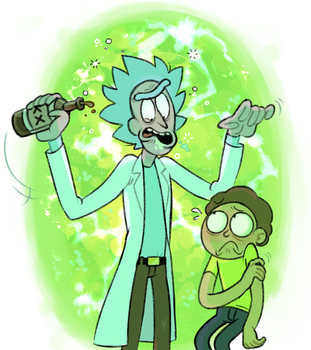 Rick and Morty by Phoninskis