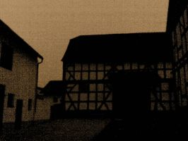 Village at twilight - Sepia 3 by 2Crazy4Nick