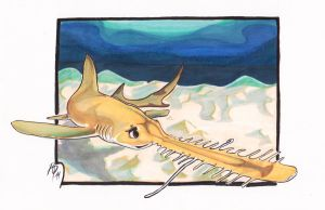 LongnoseSawshark Wednesday by innerpeace1979