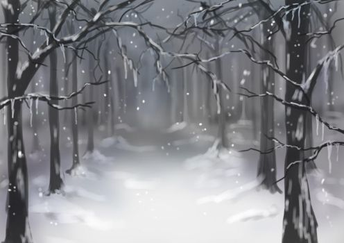 Snow forest by nutJT