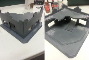 Warhammer 40k First Terrain - Ruins - Finished by demoncloak89