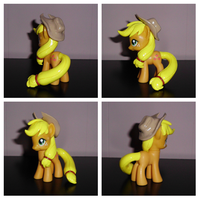 Show-Accurate Mane and Tail Sculpted Applejack by UniqueTreats