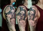 Day of the Dead Sleeve sitting 1 by danktat
