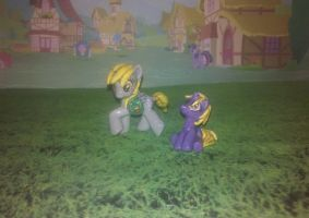 My Little Pony G4 custom: Derpy Hooves and Dinky! by vulpinedesigns