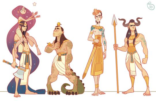 Character Design: Egyptian Gods by MeoMai
