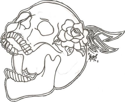 Skull And Rose by 1msyt1