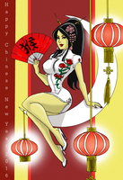 Year of the Monkey 2016, pin-up style! by johnnyharadrim
