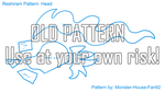 Reshiram Plushie Pattern: Head by Monster-House-Fan92
