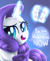 Be My Valentine (Rarity) by siggie740