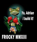 Rocky Balboa Frog, ad for Jfrog by romther