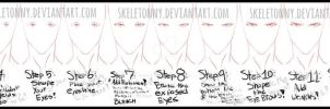 How I Draw BLEACH Style Eyes- MALE by Skeletonny