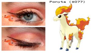 Pokemakeup 077 Ponyta by nazzara