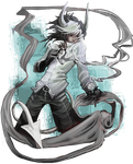 Illustration - Grayscale *Gaiaonline by VanchaMarl