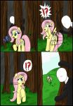 Fluttershy vs slenderman by CIRILIKO