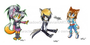Point Commission: Chibis 1 by ShadowSinty