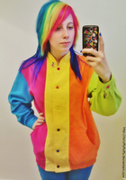1980's Rainbow Colorblock by ScruffyFluffy