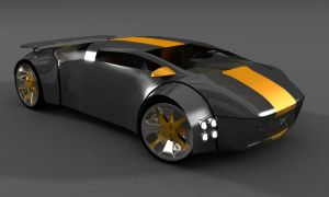 Concept el. car by Moelhead