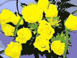 Yellow Roses As Cartoon by YOKOKY
