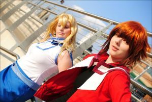 the crew at the schoolyard by DiscoPower