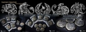 Fantasy Creature Metal Buttons by J-C