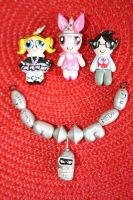 Artcrossing necklaces from Souffle-Etc by souffle-etc