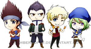BEYBLADE-EURO Team Chibi by SlumberPoppy
