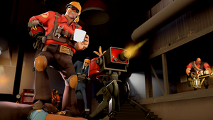 [SFM] Engi and his Sentry by Legoformer1000