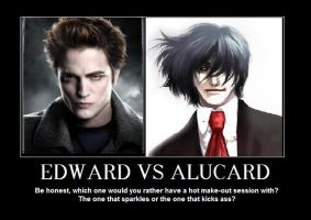 Edward vs. Alucard by bigred767