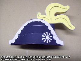 Papercraft LEGO GovernorBroadside minifig hat test by ninjatoespapercraft