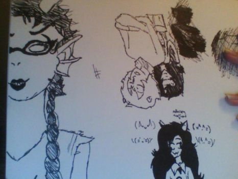 Sketch Dump of Homestuck w  o  w by Goldenpancakekk