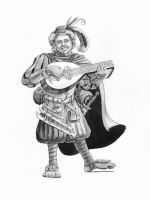 Lem the Bard Halfling from Paizo by artybel
