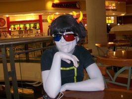 Sollux across the table by MoonDust01