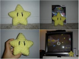 Crochet Mario Star by katrivsor