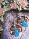 Floral Bohemian Wire Wrapped Earrings by Lirimaer86