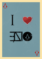 I HEART Ezio poster by Daphnecool