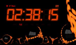 Night Stand Clock Fire (MULTICOLOR) for xwidget by jimking