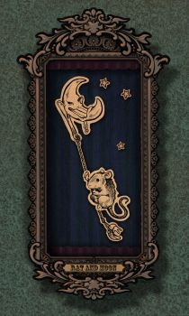 Papercut Theatre: Rat and Moon by ursulav