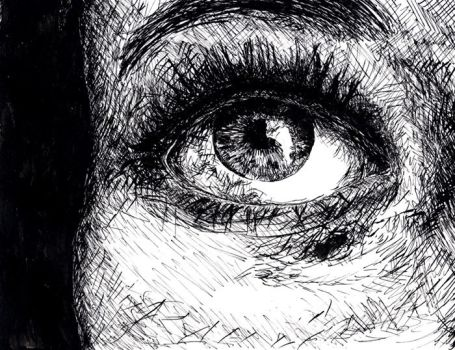 EYE - Pen and Ink by Loftio