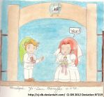 The wedding's Paper Link and Malon by CJ-DB