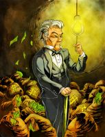 ERB Collaboration: Thomas Edison color by SemajZ