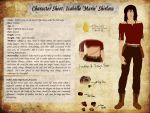 Character Sheet: Isabelle Shirlaw by Lalliebear