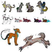 Mixed Adopts FREE. by Darkness35Wolf