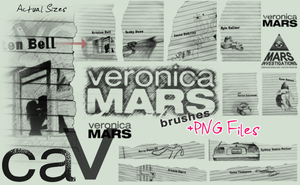 Veronica Mars Brushes by MageStiles