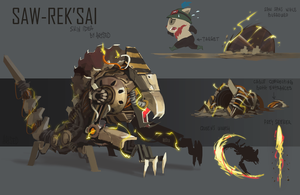 Saw-Rek'Sai skin idea by Artsed