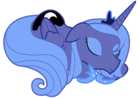 Princess Luna Sleeping by REPLAYMASTEROFTIME