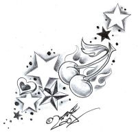 TattooD. StarsSweetsCherry2 by 2Face-Tattoo