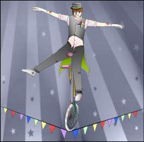 Clumsy Garland Unicyclist by Neonight92