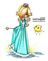 Rosalina from Mario - Colored by JadeDragonne