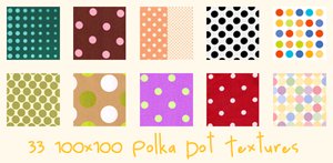 Polka Dot Icon Textures by alexandral