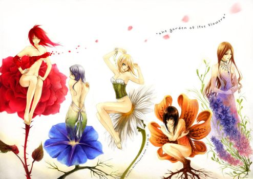 The Garden of Live Flowers by LanWu